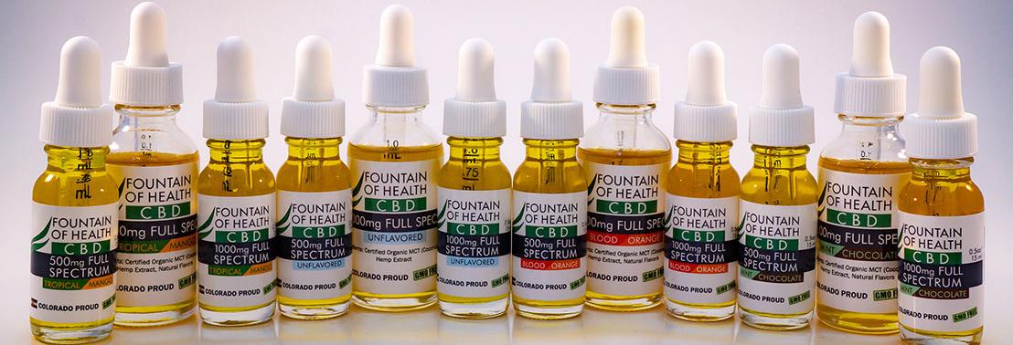 Buy CBD Oil - Naturally Flavored Colorado Hemp Oil - Fountain of Health