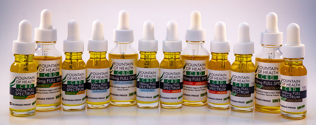 CBD oil, flavored CBD oil and unflavored cbd oil
